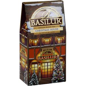 Чай черный Basilur Рождественский домик 100г картон