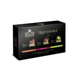 Чай черный листовой Riston Трио саваж 3х70 г