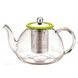 Чайник стеклянный c металлическим фильтром 1,2 л
