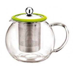 Чайник стеклянный с металлическим ситечком 800 мл
