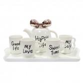Набор чашек и чайника Happy Life