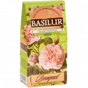 Чай зелёный листовой Basilur Букет Кремовая Фантазия картон 100г