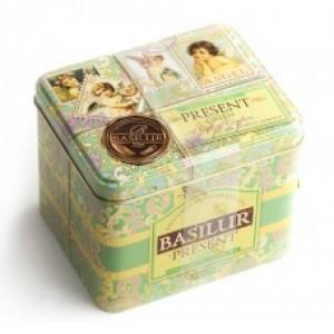 Чай зелёный листовой Basilur Подарок Зелёный ж/б 100г