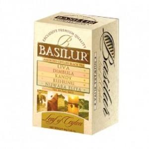 Чай чёрный пакетированный Basilur Лист Цейлона Ассорти  (20х2г) 40г