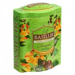 Чай зелёный листовой Basilur Букет Зелёная Свежесть ж/б 100г