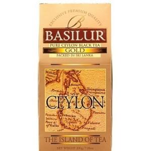 Чай чёрный листовой Basilur Чайный Остров Цейлон Золотой картон 100г
