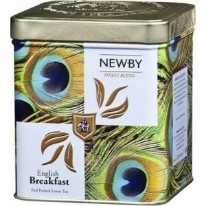 Чай черный листовой Newby Английский завтрак Сафари125г ж/б