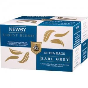 Чай черный пакетированный Newby Эрл Грей 25х2,5г