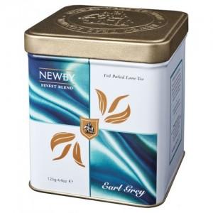 Чай черный листовой Newby Эрл грей 125г ж/б