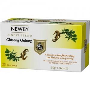 Чай улун пакетированный Newby Женьшеневый улун 25х2,5г