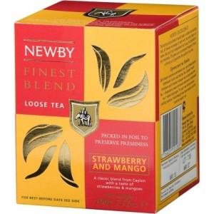 Чай фруктовый листовой Newby Манго и Клубника 100г