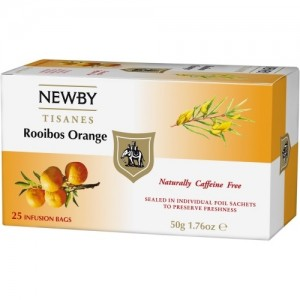 Чай травяной пакетированный Newby Ройбуш Апельсин 25х2,5г
