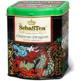 Чай зеленый листовой SebasTea Chinese Dragon 100г ж/б