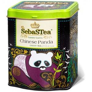 Чай зеленый листовой SebasTea Chinese Panda 100г ж/б