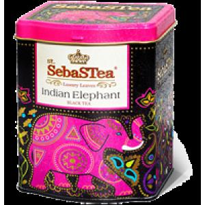Чай черный листовой SebasTea Indian Elephant ж/б 100г