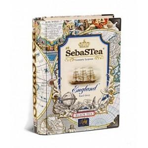 Чай черный листовой SebasTea Книги England ж/б 100г