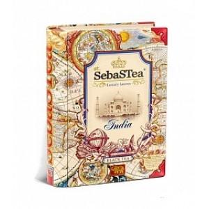 Чай черный листовой SebasTea Книги India ж/б 100г