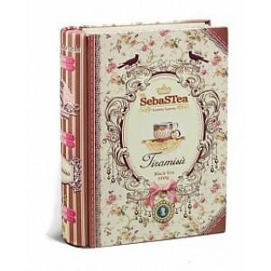 Чай черный листовой SebasTea Книги Tiramisu ж/б 100г