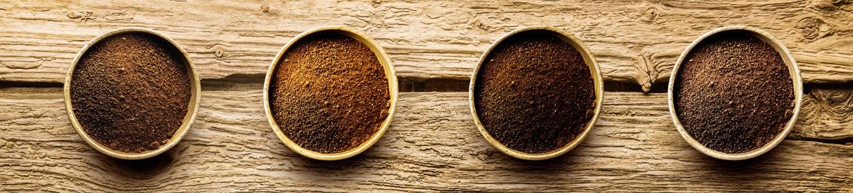 молотый кофе разной обжарки