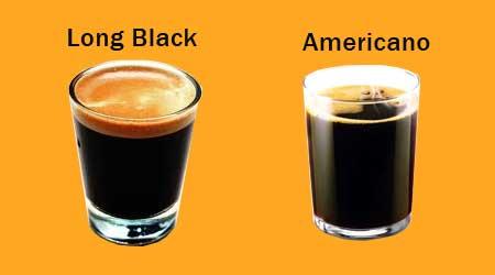 Американо и лонг блэк чем отличаются